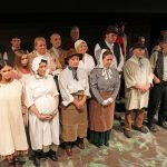 A photograph of Marie Cooper Actor with the cast of Lark Rise at Sewell Barn Theatre