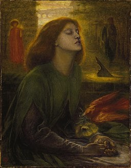 Image of Dante Gabriel Rosetti's painting of Lizzie Sidall, 'Beata Beatrix'