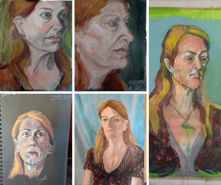 Marie Cooper as artists model for a group of Norwich artists including Peter Offord of the Norwich 20 Group, Suzanne Chisnell and Phillip King