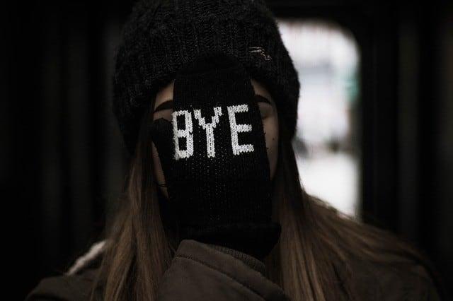Image saying bye