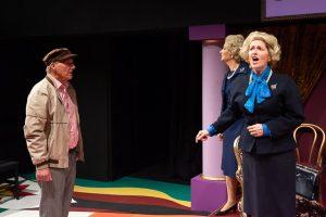 Norwich Actor Marie Cooper portraying Margaret Thatcher