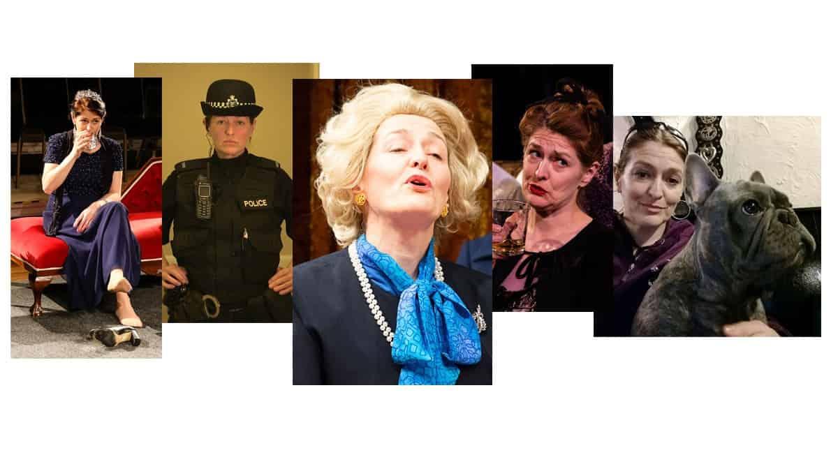 Collage of Norfolk actor, Marie Cooper
