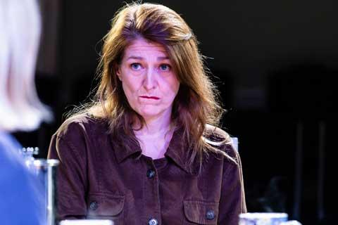 Norfolk actor Marie Cooper playing Ann Wingate in Murder in Neighbourhood Watch. Ann is confused