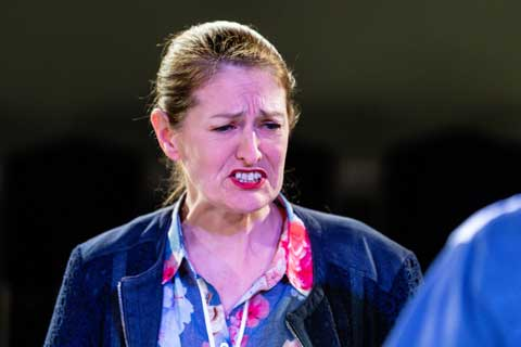 Norfolk actor Marie Cooper playing Ann Wingate in Murder in Neighbourhood Watch. It' all too much for Ann